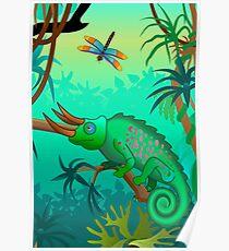 Chameleon scene Poster