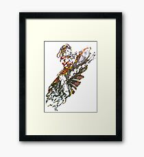 Ballpoint can can Framed Print