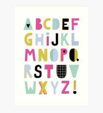 Super alphabet Art Print
