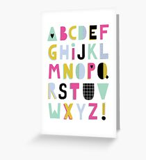 Super alphabet Greeting Card
