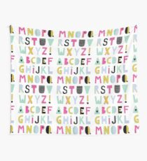 Super alphabet Wall Tapestry