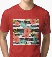 Tropical floral  Tri-blend T-Shirt