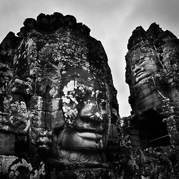 Smiling Guardians - The Bayon, Cambodia by alexzuccarelli