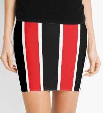Red White and Black-Striped Mini Skirt
