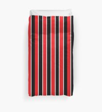 Red White and Black-Striped Duvet Cover
