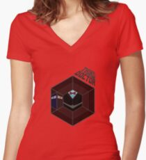 The 3rd Doctor Women's Fitted V-Neck T-Shirt