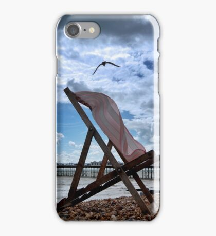 The Struggle of the Lonely Deckchair iPhone Case/Skin
