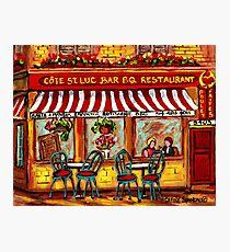 SIDEWALK CAFE MONTREAL ROTISSERIE COTE ST. LUC BBQ Photographic Print
