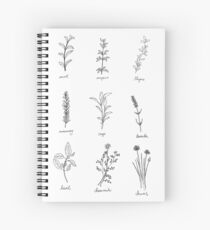 Herb Sketches Spiral Notebook