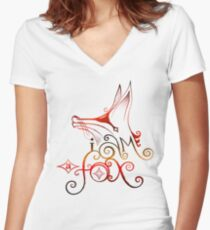 I am a Fox Women's Fitted V-Neck T-Shirt