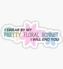 Pretty Floral Bonnet Sticker