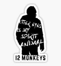 Otter eyes - 12 monkeys (white) Sticker