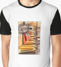 Crosshatched Sun Graphic T-Shirt