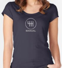 Save the Manuals!! Women's Fitted Scoop T-Shirt