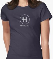 Save the Manuals!! Womens Fitted T-Shirt