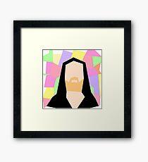 Abstract Richard M Stallman Framed Print