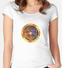 The Flower of Life Fitted Scoop T-Shirt