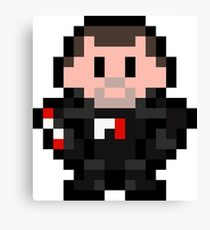 Pixel Commander Shepard Canvas Print