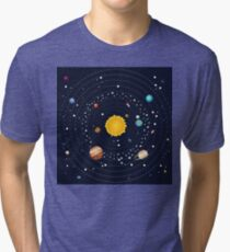 Planets of Solar System 2 Tri-blend T-Shirt
