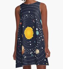 Planets of Solar System 2 A-Line Dress