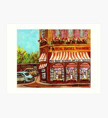 MONTREAL BAKERY REAL BAGEL SHOP Art Print