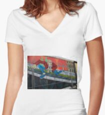 Graffiti Women's Fitted V-Neck T-Shirt