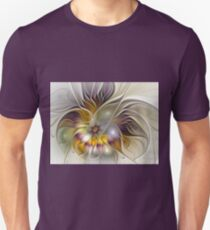 Abstract Colorful Fantasy Flower Fractal Art Unisex T-Shirt