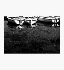 Black and White Boats Photographic Print