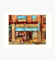 CHAUSSURES TONY'S SHOES MONTREAL STORES Art Print