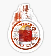 Negroni recipe Sticker
