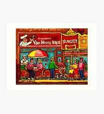 VAN HORNE BAGEL AND YANGZTE RESTAURANT MONTREAL Art Print