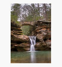 Old Man's Cave Upper Falls Photographic Print