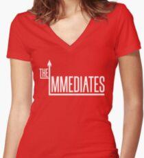The Immediates Logo Women's Fitted V-Neck T-Shirt