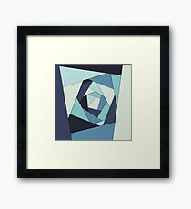 Layers of Blues Framed Print