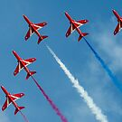 Red Arrows five ship by Gary Eason