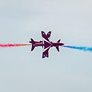 Red Arrows synchro pair by Gary Eason