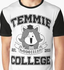 Temmie College Graphic T-Shirt