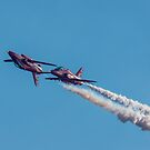 Red Arrows mirror pair by Gary Eason