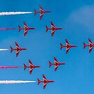 Red Arrows Typhoon by Gary Eason