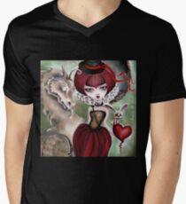 Dragon Lady - Graveyard Grenda & Dragon Men's V-Neck T-Shirt