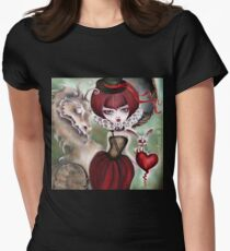 Dragon Lady - Graveyard Grenda & Dragon Women's Fitted T-Shirt