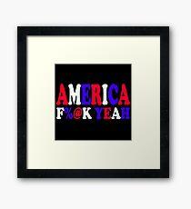 America F%@ Yeah - Team America Framed Print