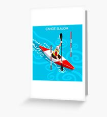 Kayak Slalom Greeting Card