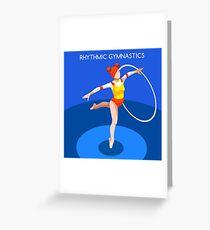 Gymnastics Rhythmic Hoop  Greeting Card