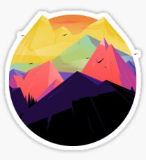 Oh the mountains Sticker