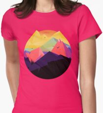 Oh the mountains Womens Fitted T-Shirt