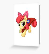 Apple Bloom Caped Crusader Greeting Card