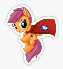 Scootaloo Caped Crusader Sticker