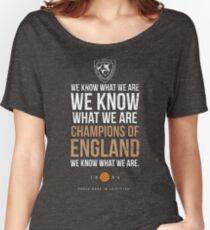 LCFC WE KNOW WHAT WE ARE..... Women's Relaxed Fit T-Shirt