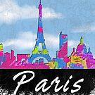 Paris France Skyline by FamilyT-Shirts
